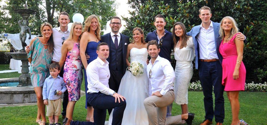 reds10 team at andrea podestas wedding