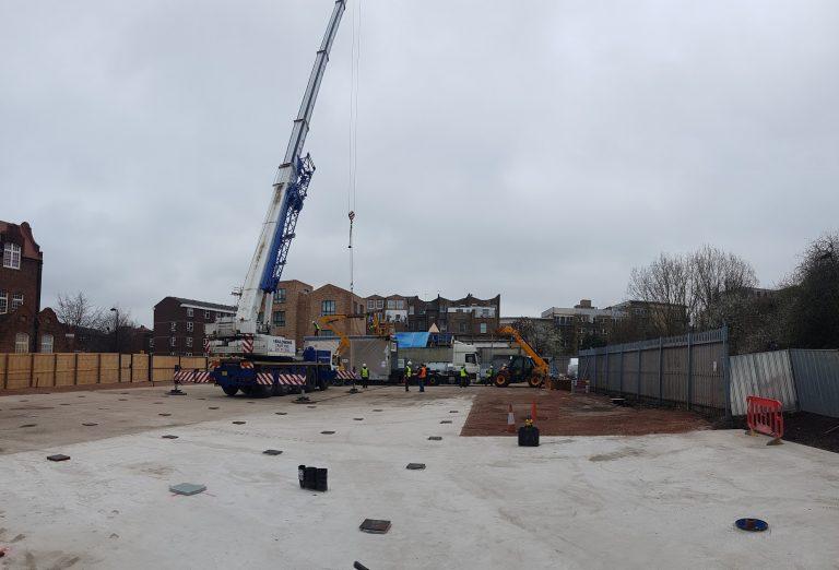 Audrey Street Modular School Construction Site
