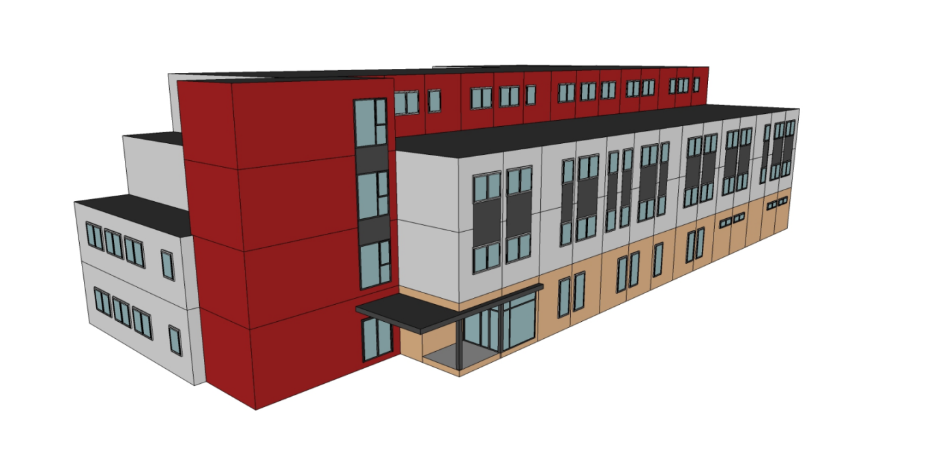 Modular School building plan drawing