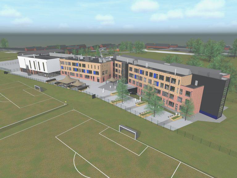 Longdean School modular school building sketch