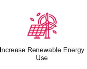 increase renewable energy use icon