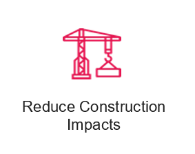 reduce construction impacts icon